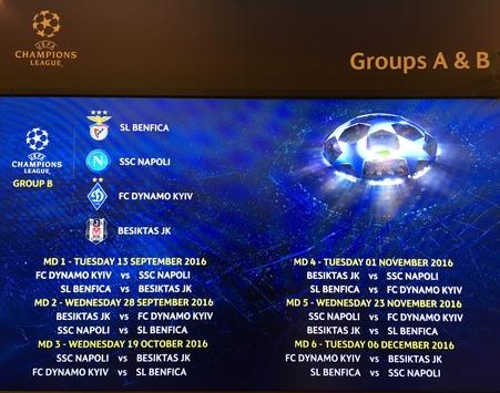 Partite Champions Calendario.Champions League Napoli Calendario