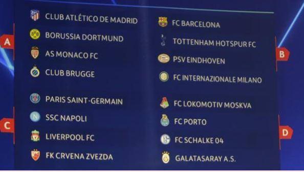 Juventus Calendario Champions.Il Calendario Della Fase A Gironi Di Champions Gol Del Napoli