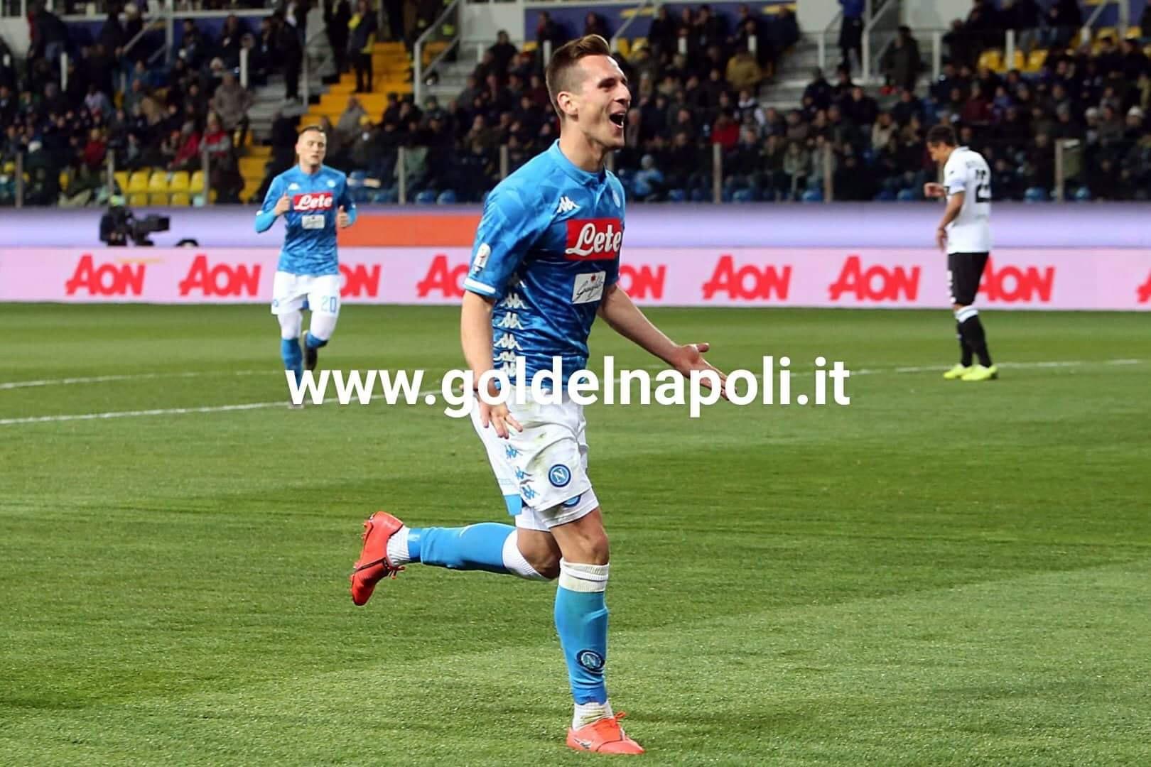 Milik twitta: abbiamo conquistato Roma - Gol del Napoli