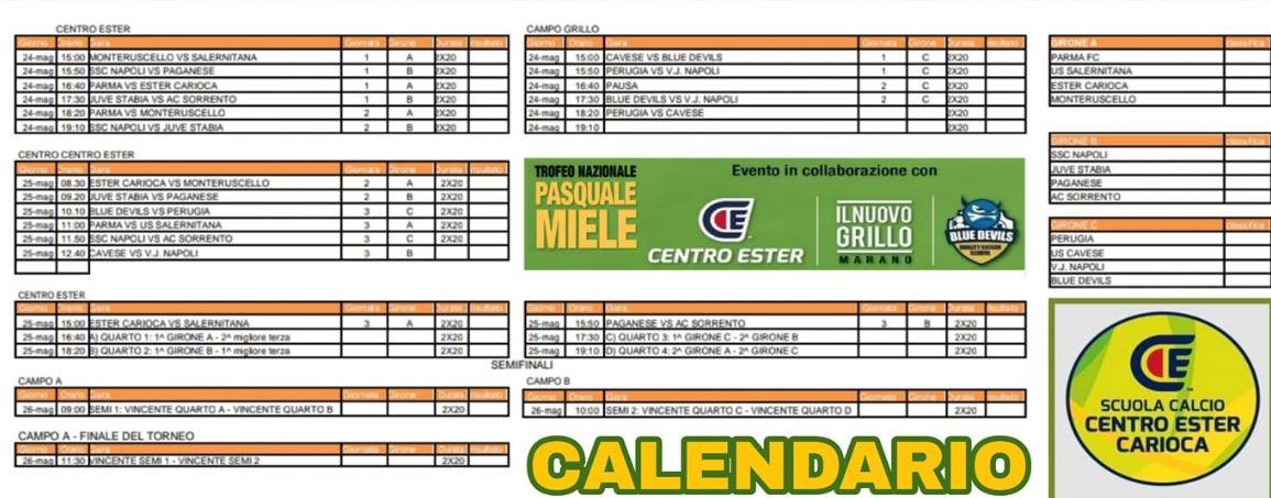 Calendario Ac Perugia.Memorial Pasquale Miele Il Programma Gol Del Napoli