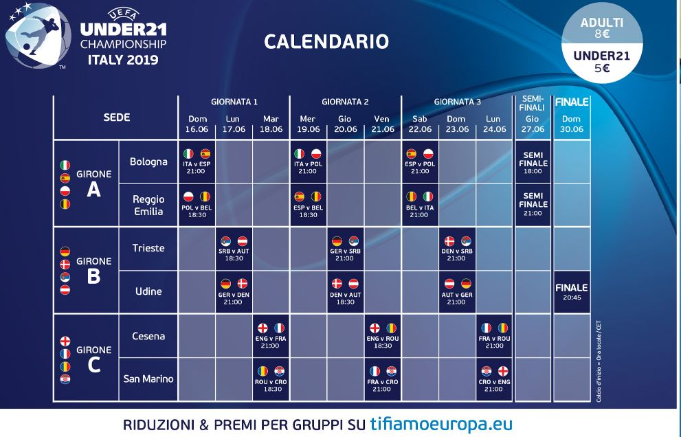 Calendario Europei Under 21 2020.Europeo U21 Italia Spagna Al Dall Ara Quasi Sold Out Gol