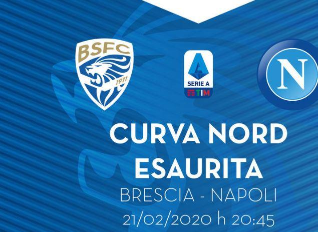 Brescia-Napoli, info. biglietti - Gol del Napoli