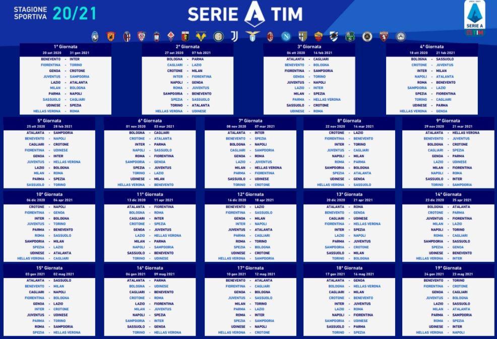 Serie A, il calendario 2020/2021   Gol del Napoli